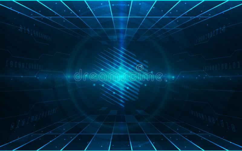 Ultra HD Abstract Sci Fi Technology Wallpaper Suitable for Application, Desktop, Banner Background, Print Backdrop and Other Print vector illustration