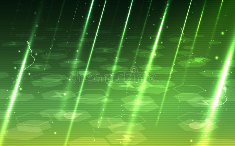 Ultra HD Abstract Sci Fi Virus and Spam Ware Technology Wallpaper stock illustration