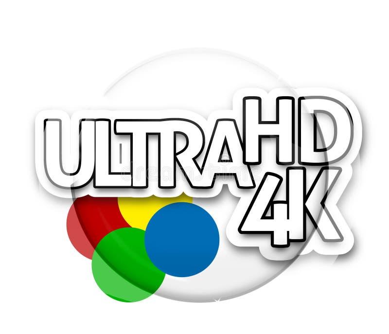 Ultra HD 4K ilustração stock