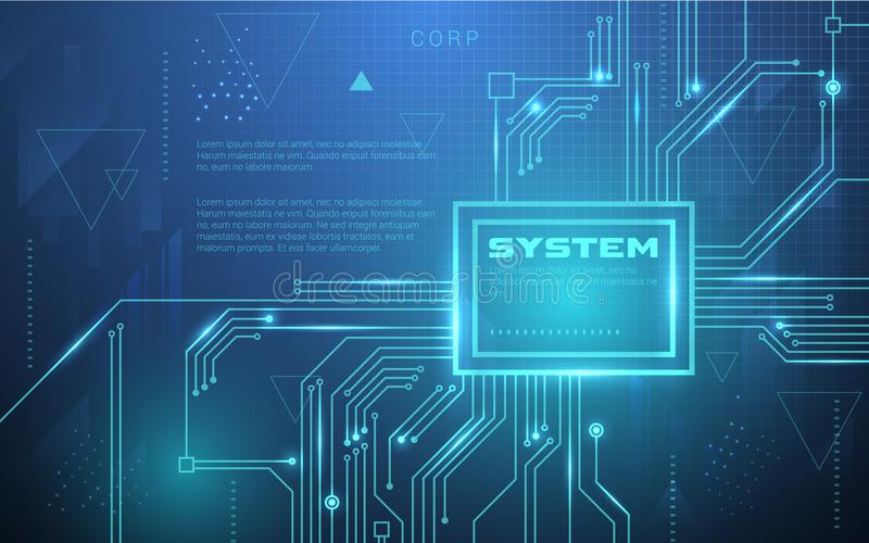 Ultra HD Sci Fi Abstrakcjonistycznej technologii Tapetowy Stosowny dla zastosowania, Desktop, sztandaru tło, druku tło i Inny, Dr ilustracji