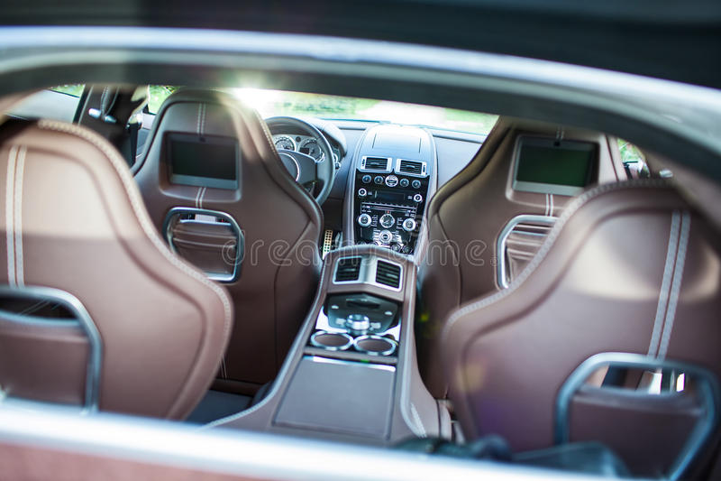 Ultra Luxury Sport Car (Interior) II stock photos