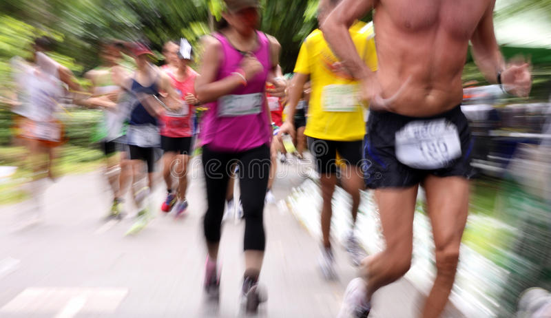 Ultra marathon 10 heures photo libre de droits