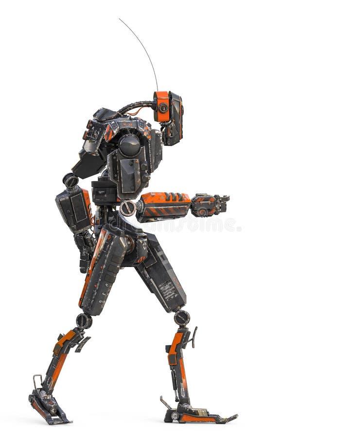 Ultra Maschine im weißen Hintergrund stock abbildung