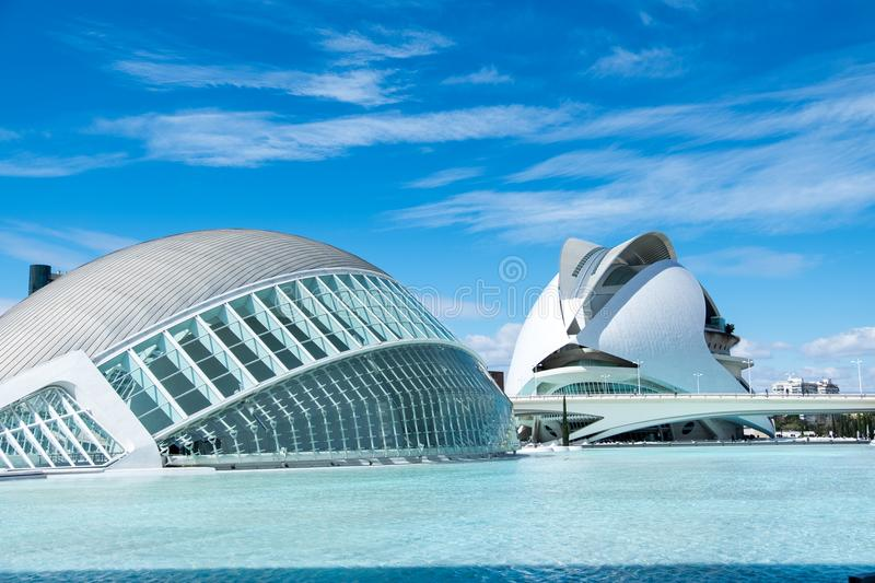 Ultra modern buildings of the Olympic Center in Valencia stock images