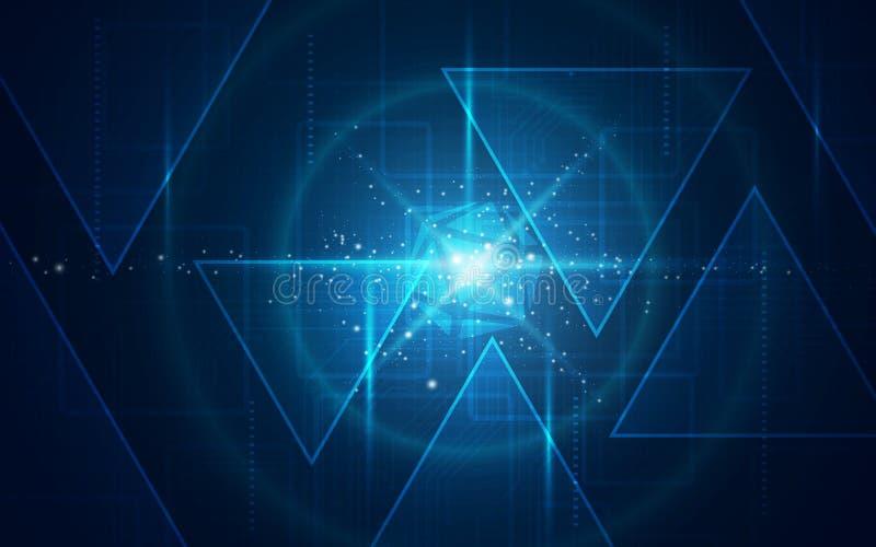 Ultra papel de parede da tecnologia de Sci Fi do sumário de HD ilustração stock