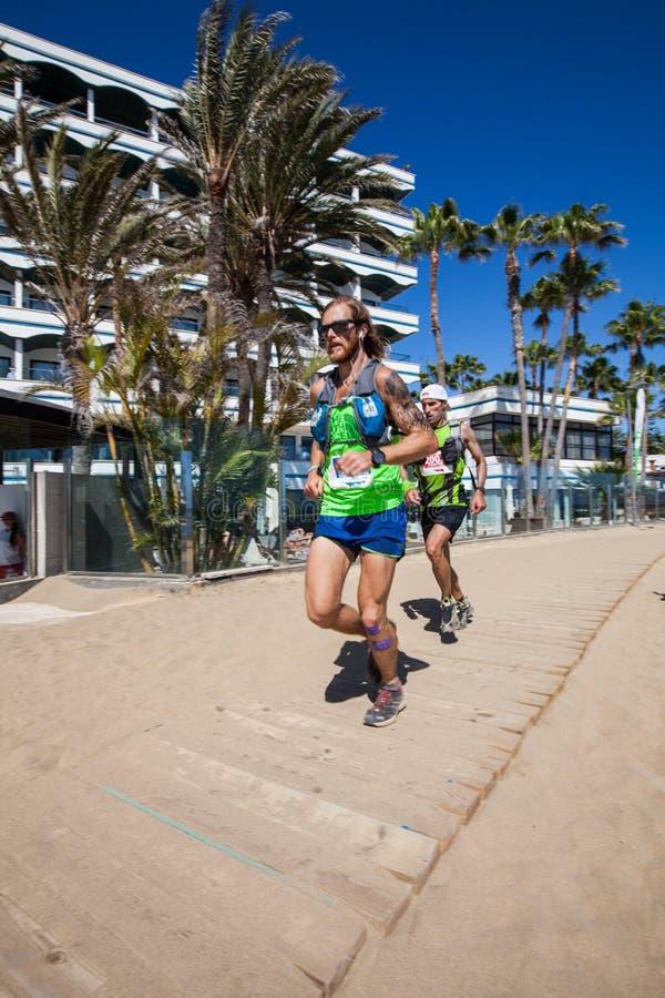 Ultra Transgrancanaria Maraton 2014. images stock