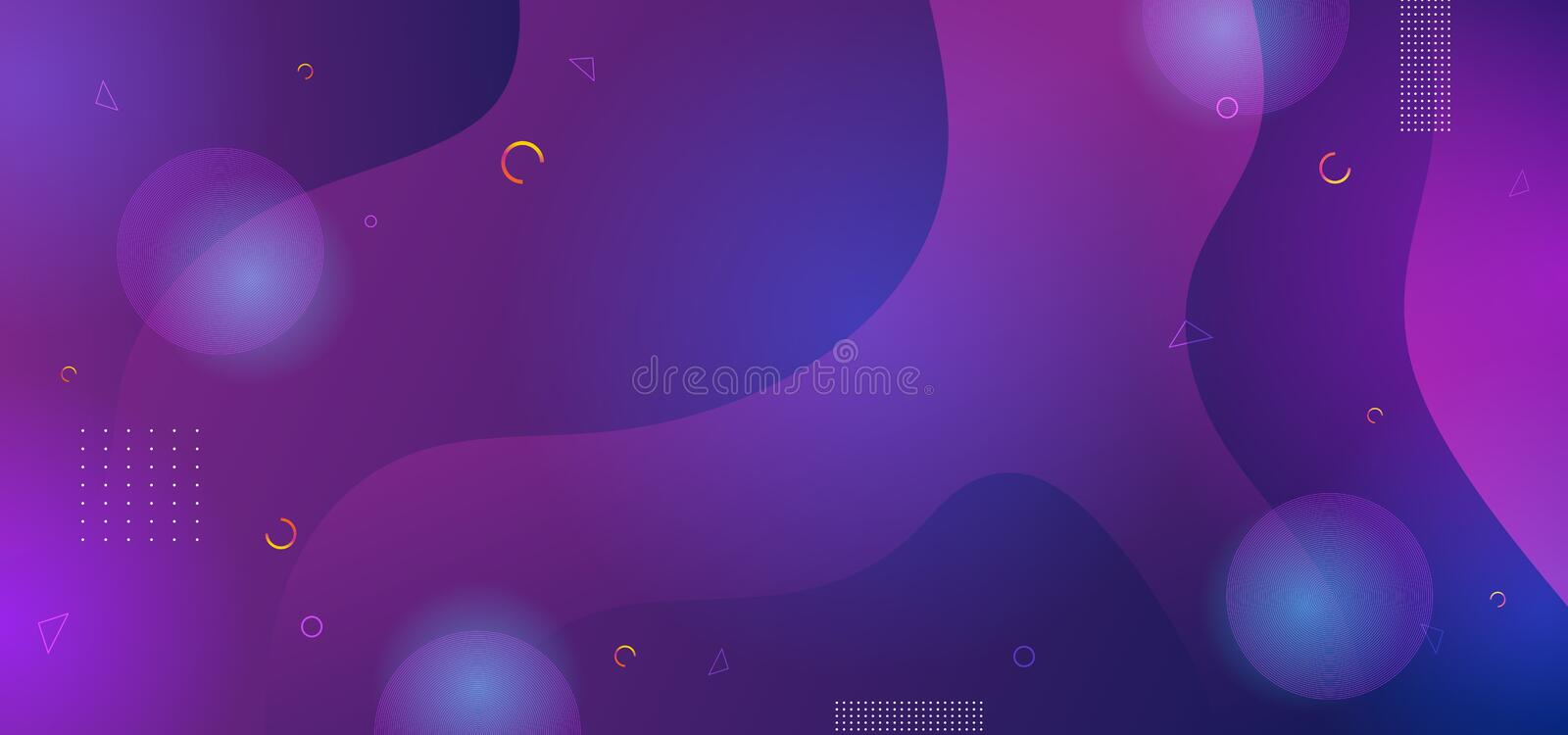 Ultra violet abstract background with fluid liquid gradient shapes. Dynamic modern and futuristic design vector illustration eps. 10, color, purple, texture vector illustration