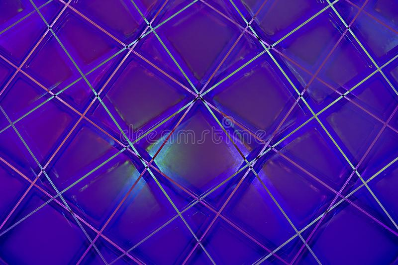 Ultra Violet Abstract Geometric Pattern stock photography