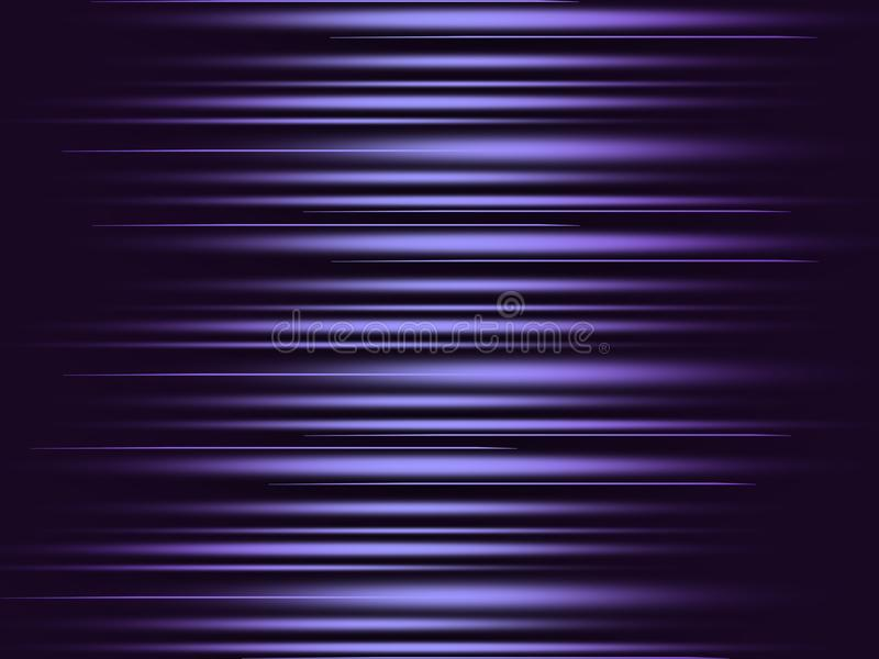 Ultra violet glowing shiny stripes abstract background stock illustration