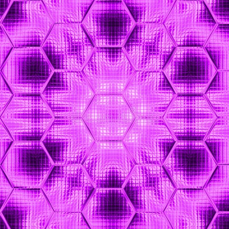 Ultra violet hexagonal mandala gradient background with gauze stock illustration