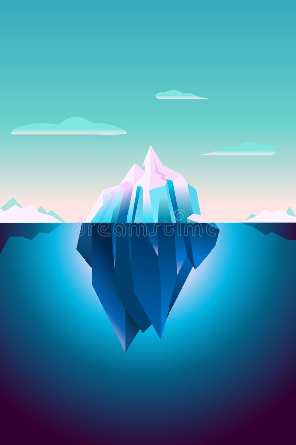 Free Ultra Violet Iceberg Background Polar Landscape Royalty Free Stock Photos - 107556308