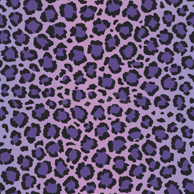 Free Ultra Violet Leopard Vector Seamless Pattern Stock Photography - 113751432