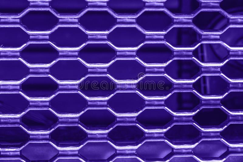 Ultra violet purple metal car grill royalty free stock image
