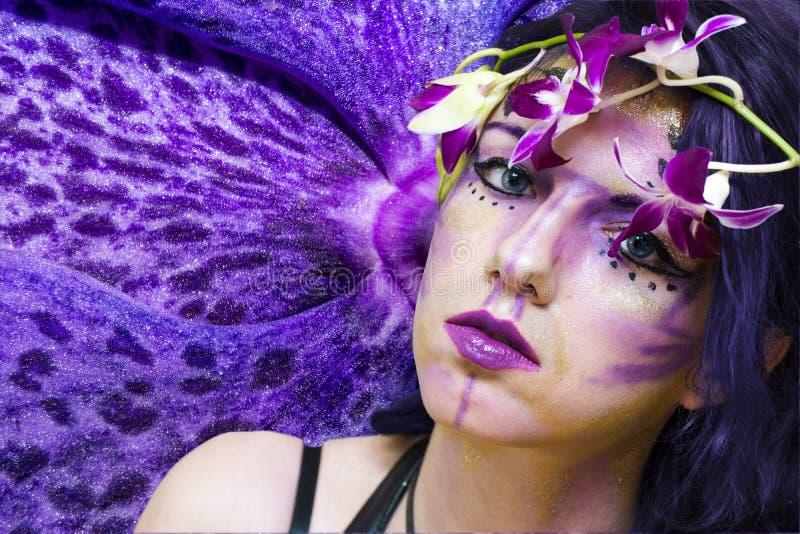 Ultrafioletowa czarodziejka obraz stock