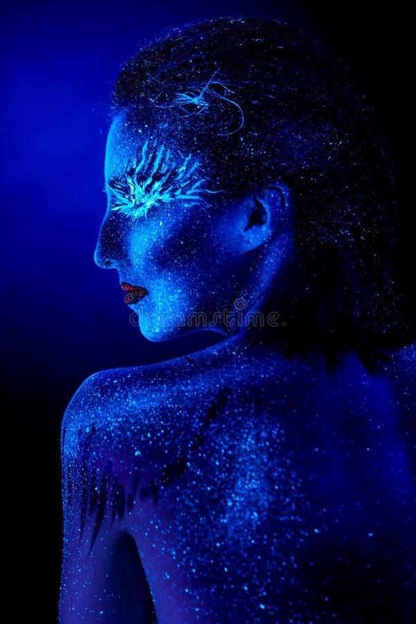 Ultrafioletowy zima portret obraz royalty free