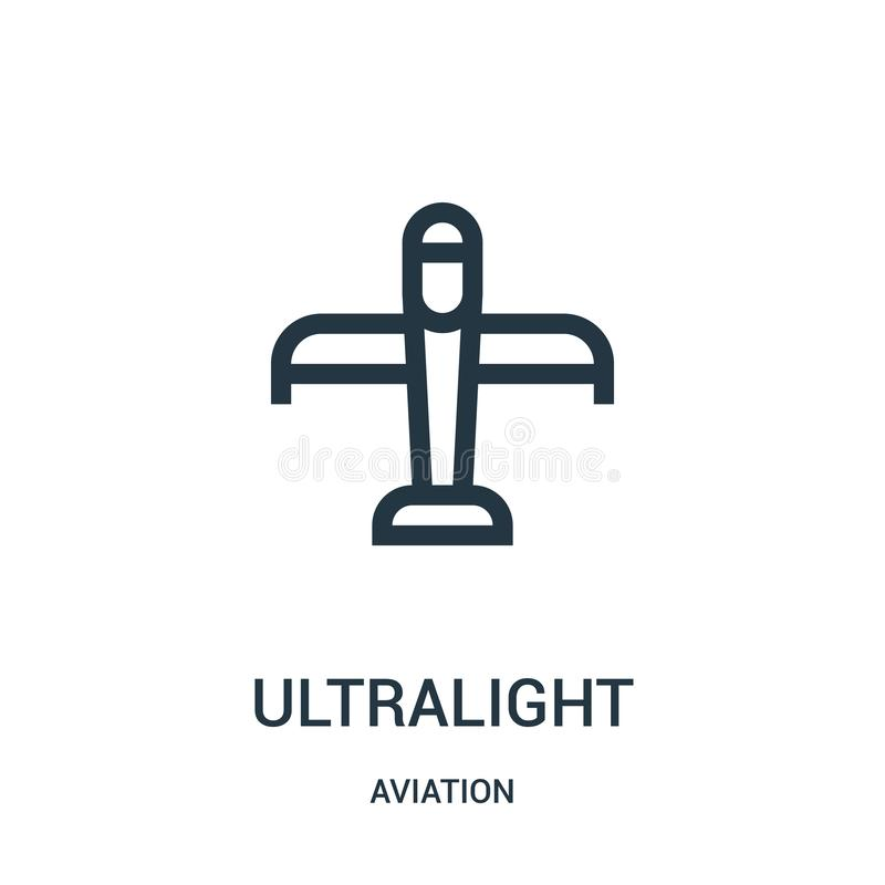 Ultralight icon vector from aviation collection. Thin line ultralight outline icon vector illustration. Linear symbol for use on. Web and mobile apps, logo vector illustration