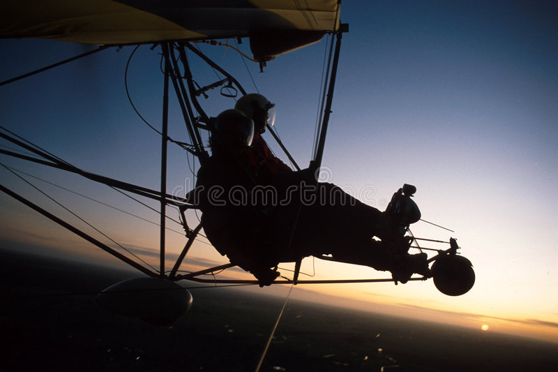 Download Ultralight silhouette 1 stock image. Image of sport, airplane - 1716427