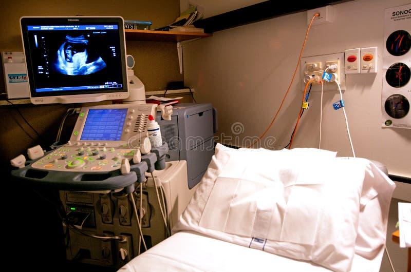 Ultraljudscanningutrustning royaltyfri foto