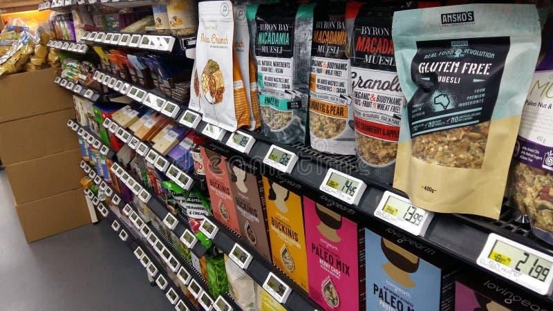 Ultramarinos en IGA Supermarket imagen de archivo libre de regalías