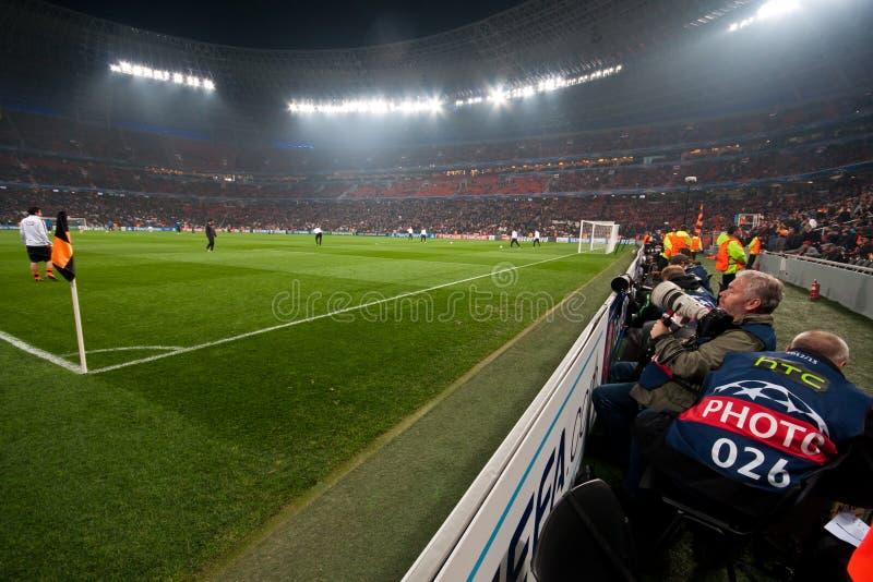 Ultras da multidão do estádio fotografia de stock royalty free