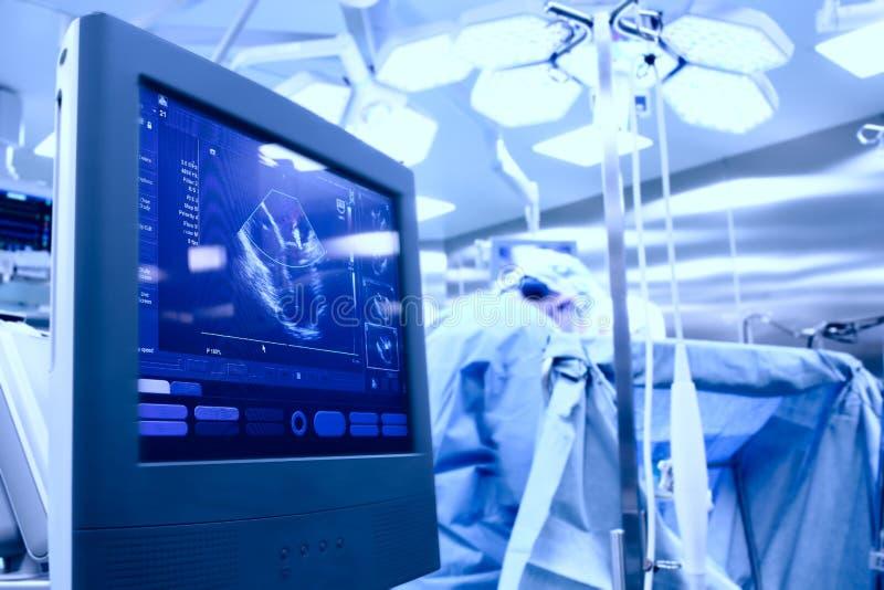 Ultraschall im Operationsraum lizenzfreies stockbild