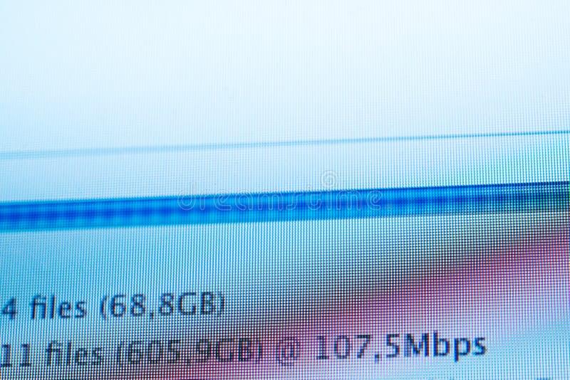 Ultraschnelles Internet-Geschwindigkeitsdownload archiviert Internet lizenzfreies stockfoto