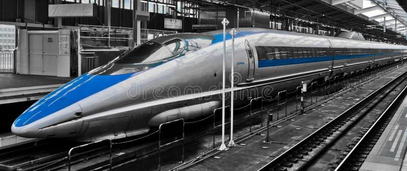 Ultrasnelle trein royalty-vrije stock foto