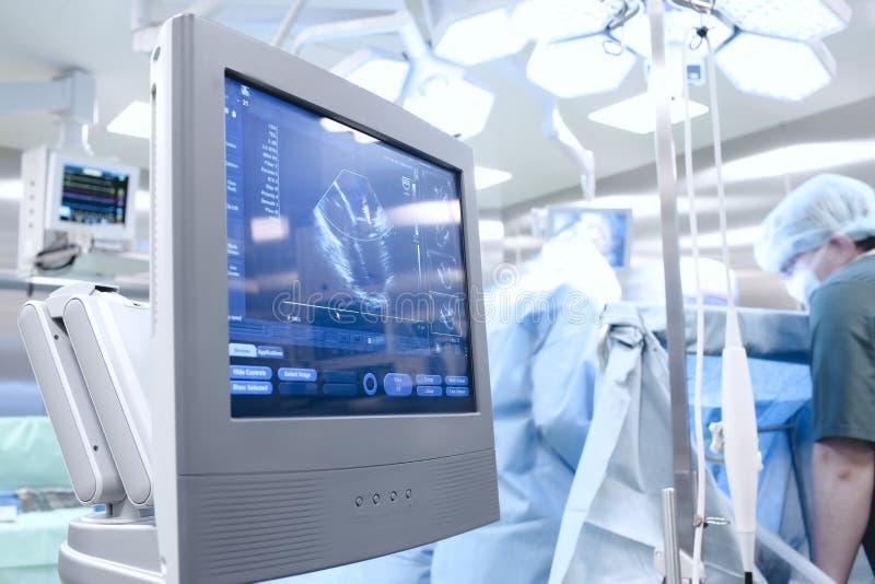 Ultrason dans la salle d'opération photo libre de droits