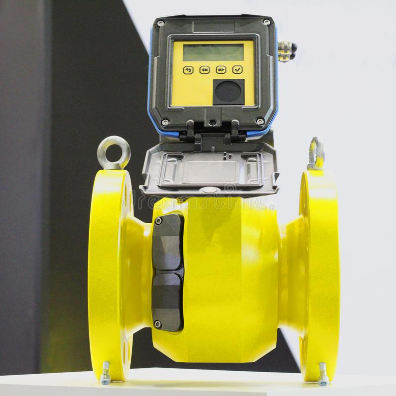 Ultrasonic flow meter for natural and petroleum gas royalty free stock image