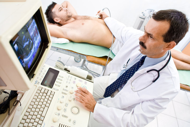Ultrasoon aftasten stock foto's