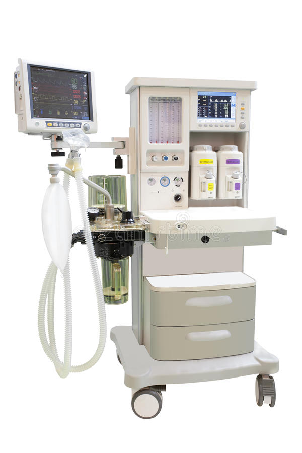 Ultrasound apparatus. Under the white background royalty free stock photo