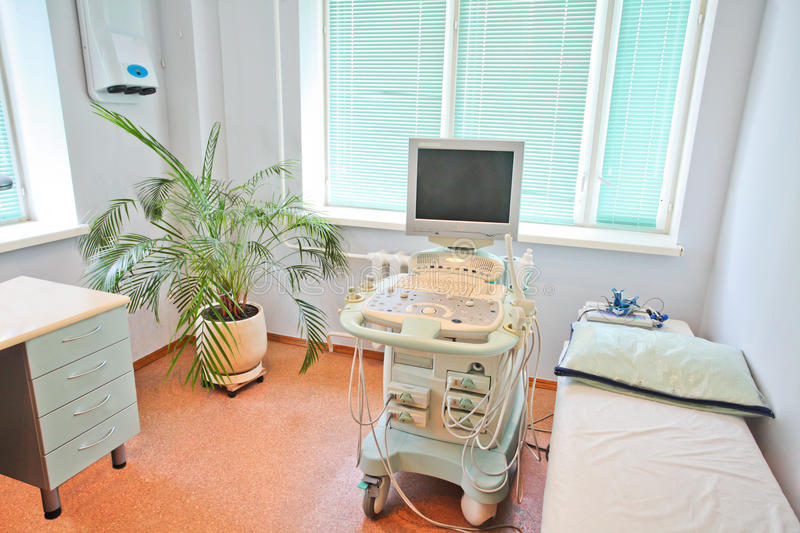 Ultrasound apparatus. In a consulting room stock photos