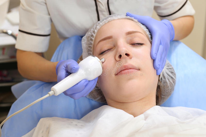 Ultrasound Cavitation anti-aging, Rejuvenation, Lifting Procedure. royalty free stock photography