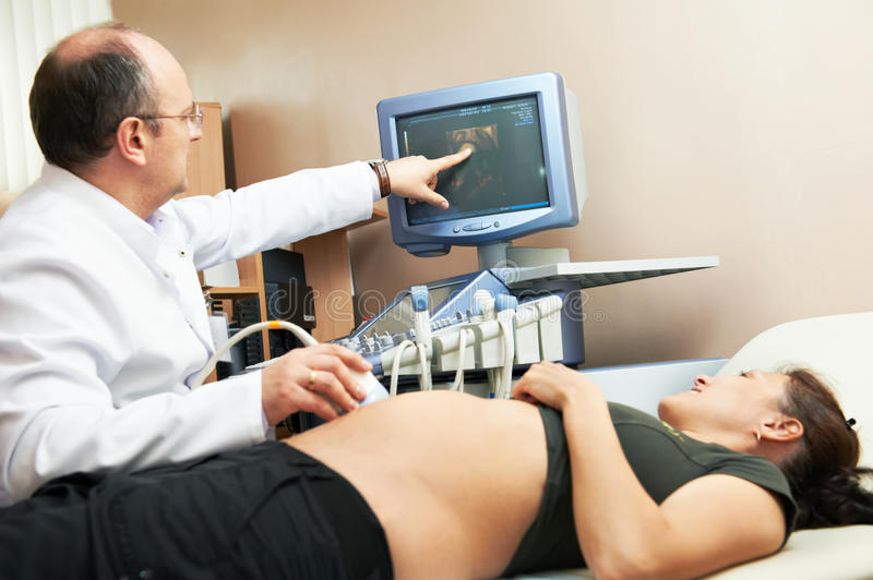 Ultrasound medical examination royalty free stock image