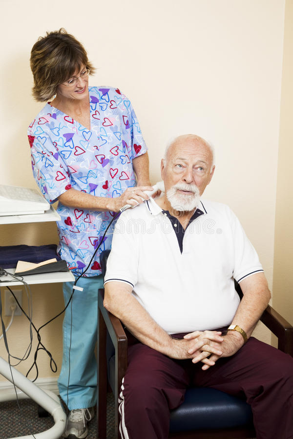 Download Ultrasound Neck Pain Relief Stock Images - Image: 15134374
