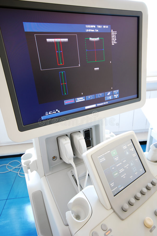 Ultrasound scanner stock photo