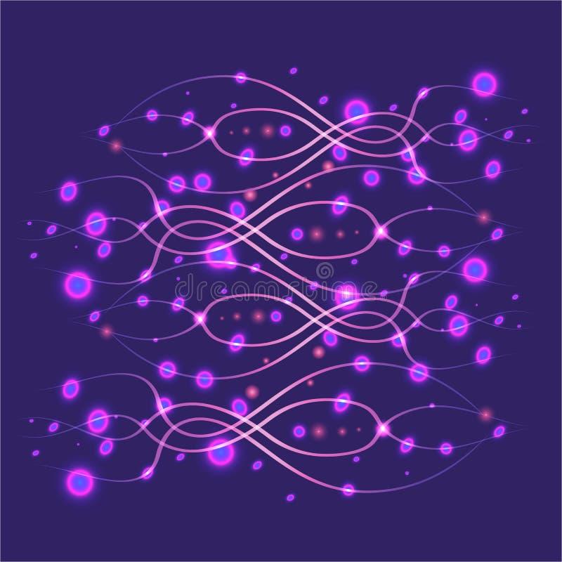 Ultraviolet abstract pattern boitech style royalty free illustration