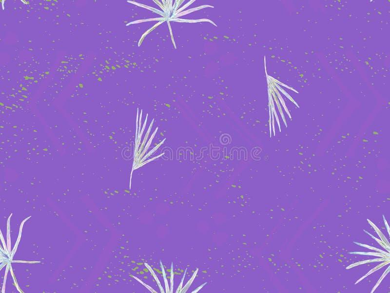 Ultraviolet exotisch patroon royalty-vrije illustratie