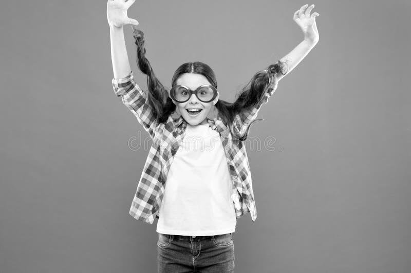 Ultraviolet protection crucial while polarization more preference. Optics and eyesight. Child happy good eyesight. Summer accessory. Eyesight and eye health stock photography
