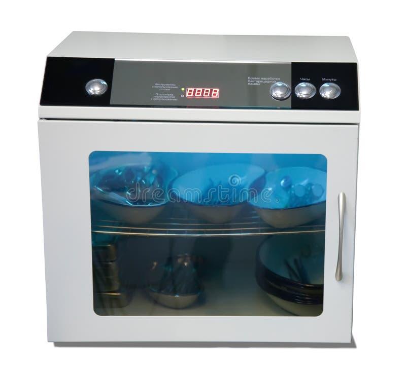 Ultraviolet sterilization box stock image
