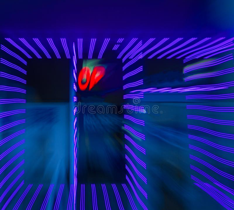 Free Ultraviolet Zoom Explosion Royalty Free Stock Image - 113444256