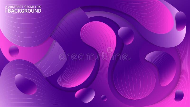 Ultraviolett abstrakt geometrisk bakgrund vektor För snitt krabba ark av av papper Origamistil royaltyfri illustrationer