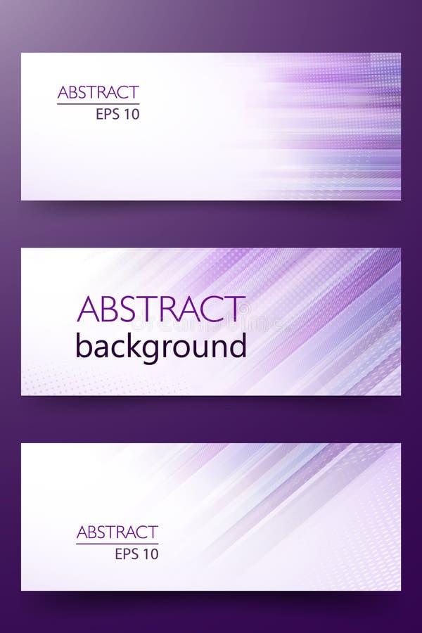 Ultraviolett glödande linje vektorabstrakt begreppbaner i färg av året 2018 Halvton- och banddesignmall för royaltyfri illustrationer
