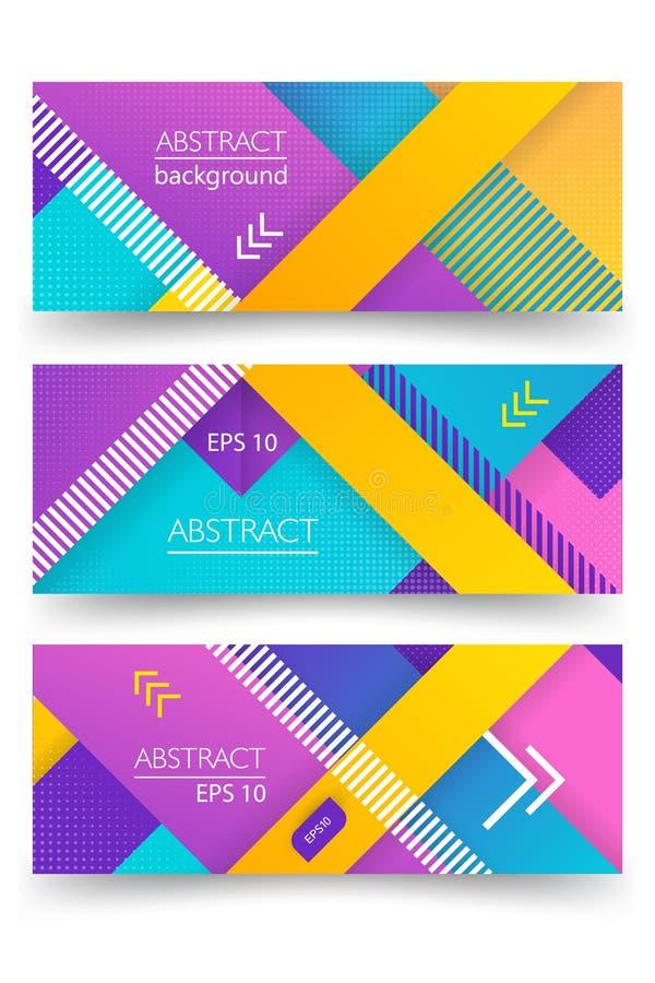 Ultraviolett vektorabstrakt begreppbaner med linjär designbakgrund och det diagonala bandet Begreppskonst Rastrerad design royaltyfri illustrationer