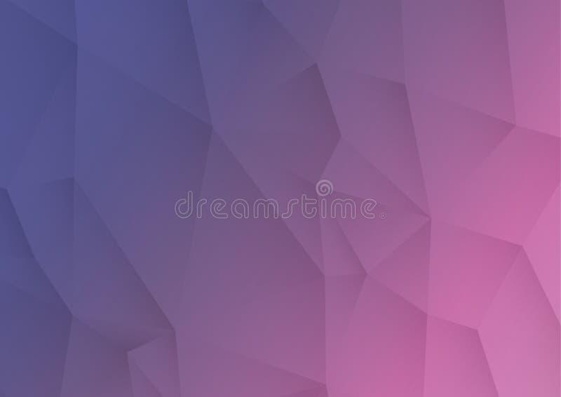 Ultraviolette abstracte driehoekige achtergrond stock illustratie