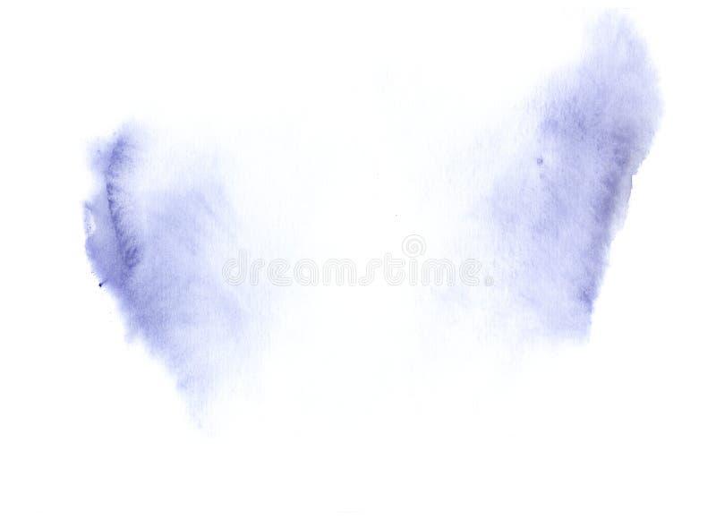 Ultraviolette blauwe waterverf stock afbeelding