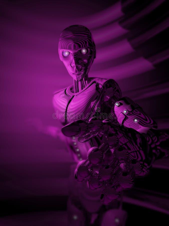 Ultraviolette Kunstmatige intelligentie royalty-vrije illustratie