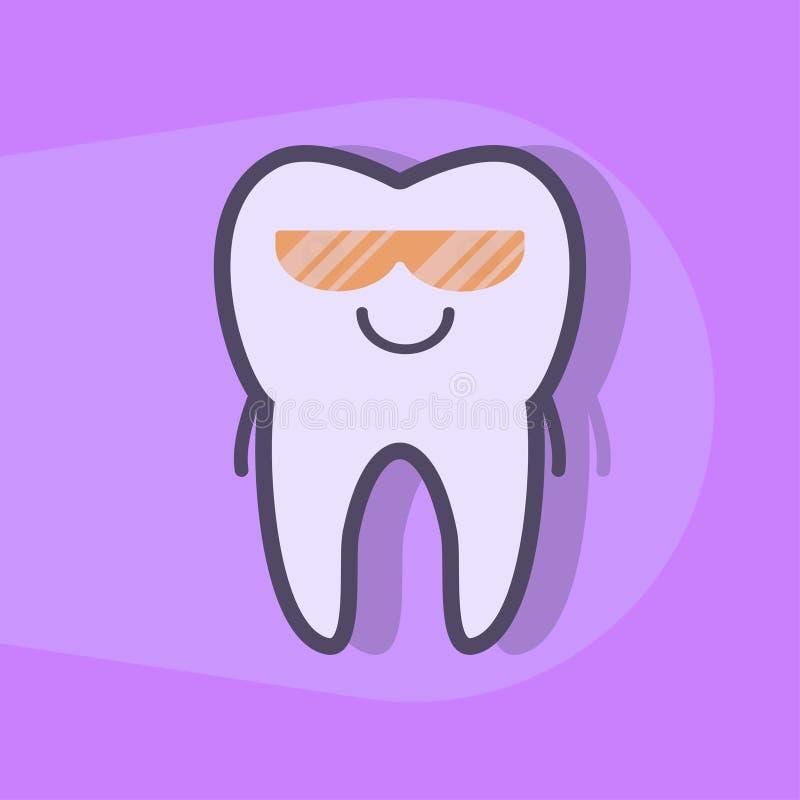Ultraviolette tanden die concept witten stock illustratie