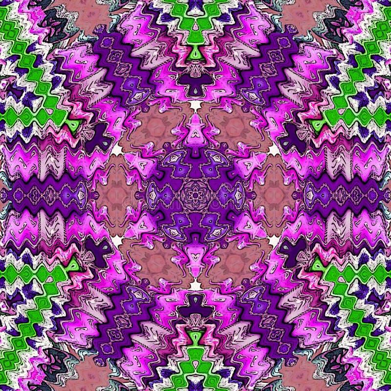 Ultraviolette vibrierende Mandala Indisches Muster lizenzfreie abbildung
