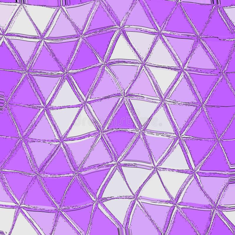 Ultravioletter polygonaler abstrakter Hintergrund Niedriges Polykristallmuster Design mit Dreieckformen lizenzfreie abbildung